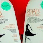 Shampoo Rehab da The Beauty Box para cabelos danificados
